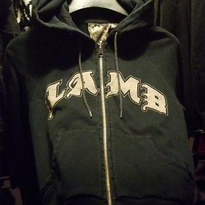 L.A.M.B. Navy distressed hoodie & matching pants